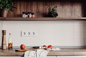 蔬菜,香料,食品,灰色,现代,炊具刀,住宅内部,厨房,木制,高雅