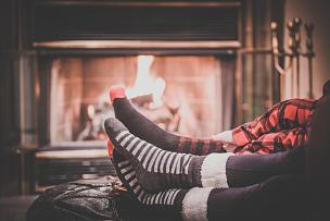 壁炉,足,婴儿,双亲家庭,袜子,人类脚趾,热,火,冬天,羊毛
