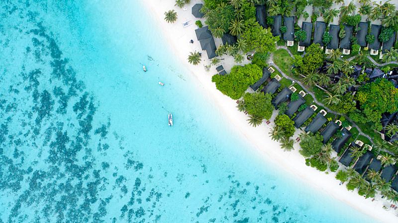 马尔代夫,海滩,概念,自然美,鸡尾酒,航拍视角,自然,浪漫,印度次大陆,图像