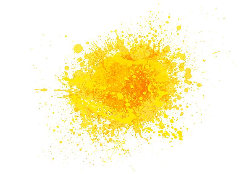黄色,涂料,橙汁,夏天,明亮,点状,轮廓,色彩鲜艳,溅,喷