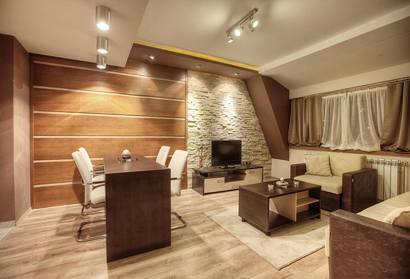现代,室内,茶几,水平画幅,墙,无人,硬木地板,石材,家具,居住区