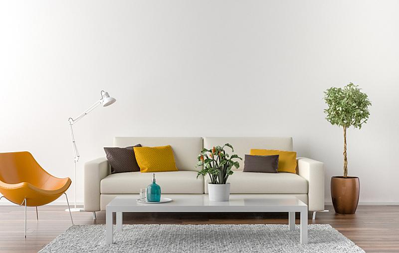 无人,起居室,墙,白色,背景聚焦,住宅房间,桌子,水平画幅,木制,装饰物