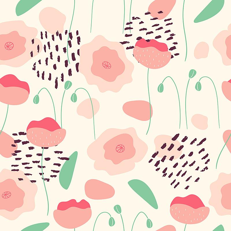 粉色,式样,抽象,彩色图片,彩色蜡笔,可爱的,斯堪的纳维亚半岛,自由,复古风格,现代
