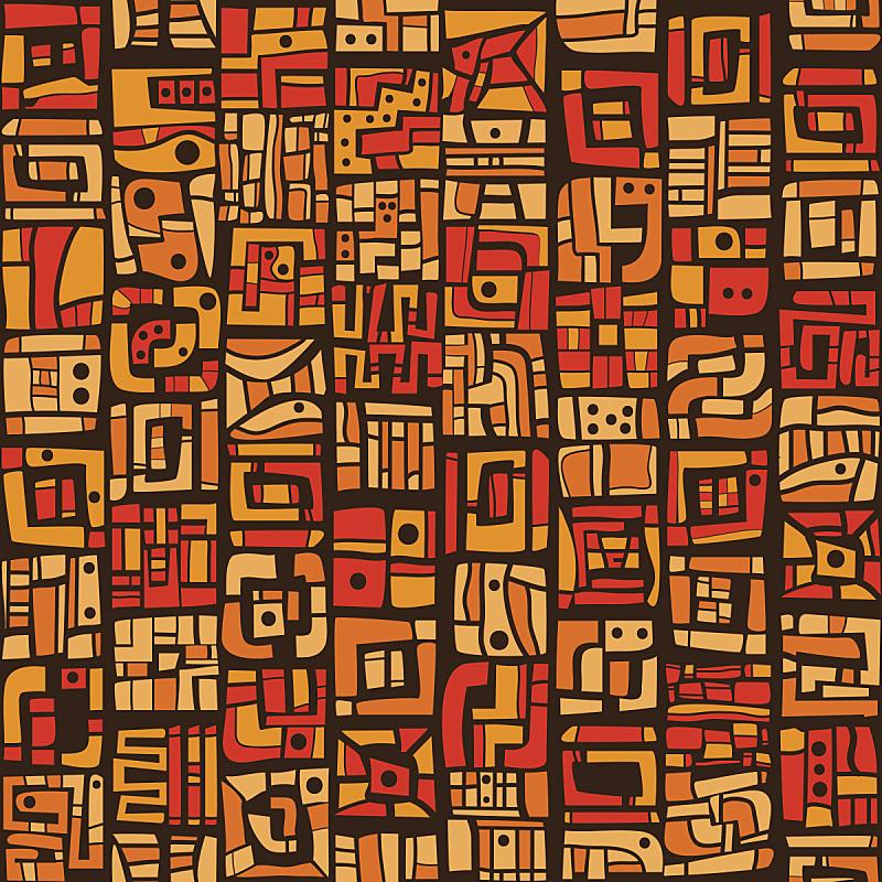 式样,橙色,非洲,绘画作品,艺术,部落艺术,地毯,纺织品,纹理效果,时尚