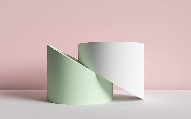 圆柱体,背景,三维图形,抽象,彩色蜡笔,横截面,原始主义,简单,几何形状,设计