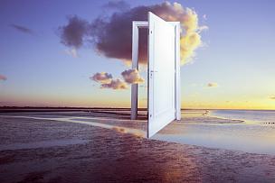 超现实主义,门,自由,白日梦,超现实主义的,门阶,超自然,灵性,错觉,梦想