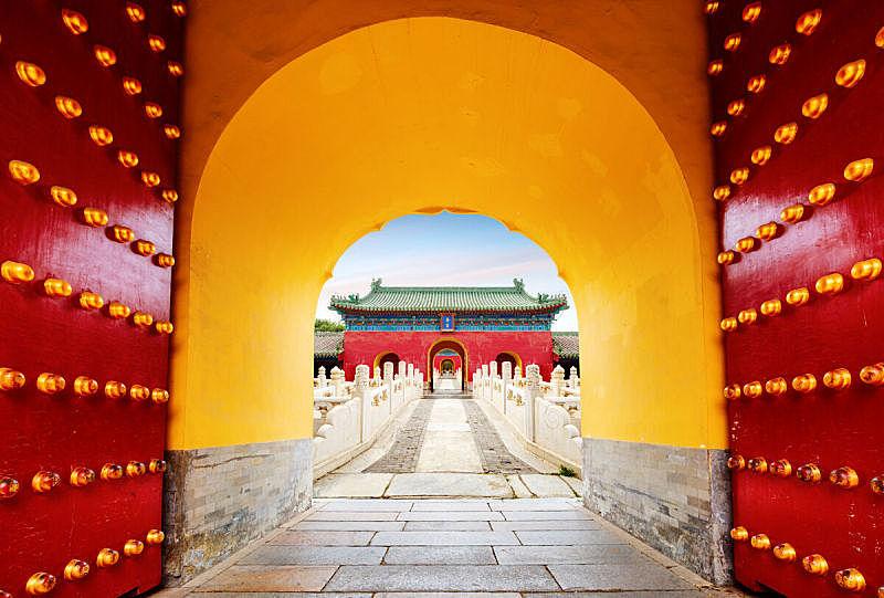 远古的,建筑外部,红色,古老的,开着的,著名景点,国际著名景点,禁止的,旅游目的地