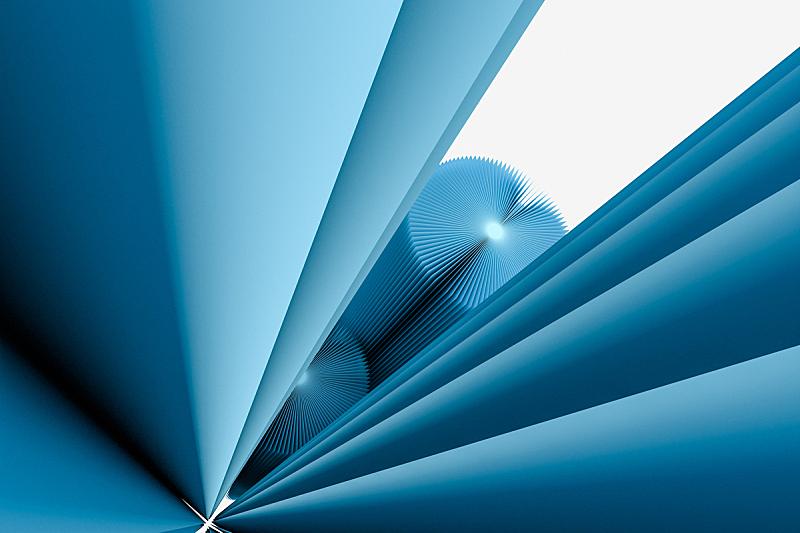 圆柱体,三维图形,纸,蓝色,插画,桶,视角,折纸工艺,几何形状,清新