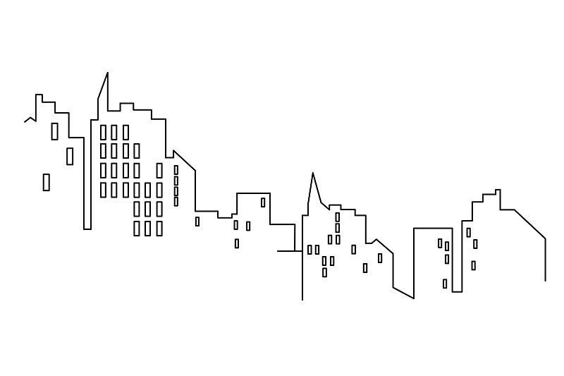 线条,都市风景,矢量,白色背景,扁平化设计,分离着色,数码图形,商务,几何形状,背景分离