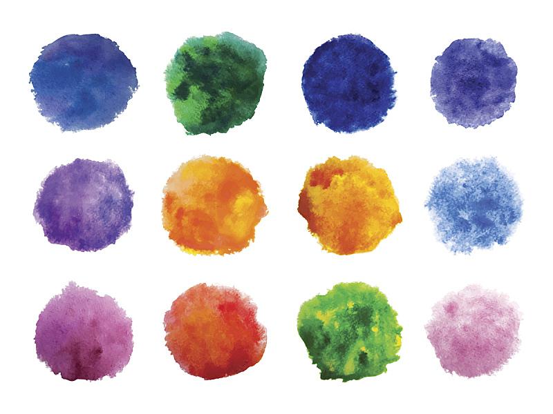 玷污的,涂料,彩虹,矢量,背景,水彩画,舞台,华丽的,水彩画颜料,背景分离
