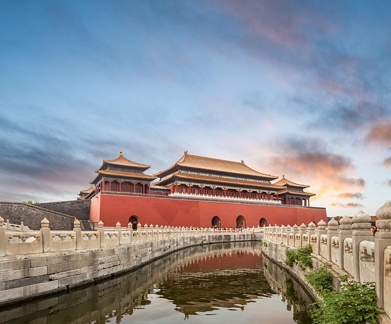 故宫,以前的,北京,博物馆,东,世界遗产,宏伟,宫殿,禁止的,大门