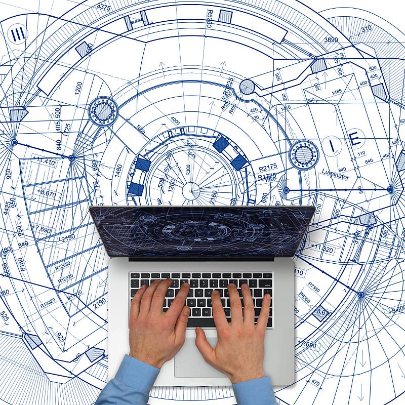 蓝图,建筑,白色背景,在上面,平板电脑,素描餐厅,电子白板,计算机软件,建筑模型,工程