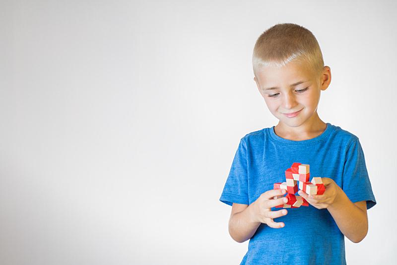 儿童,木制,玩具,男孩,进行中,脑部,半身像,智慧,建筑材料,男性