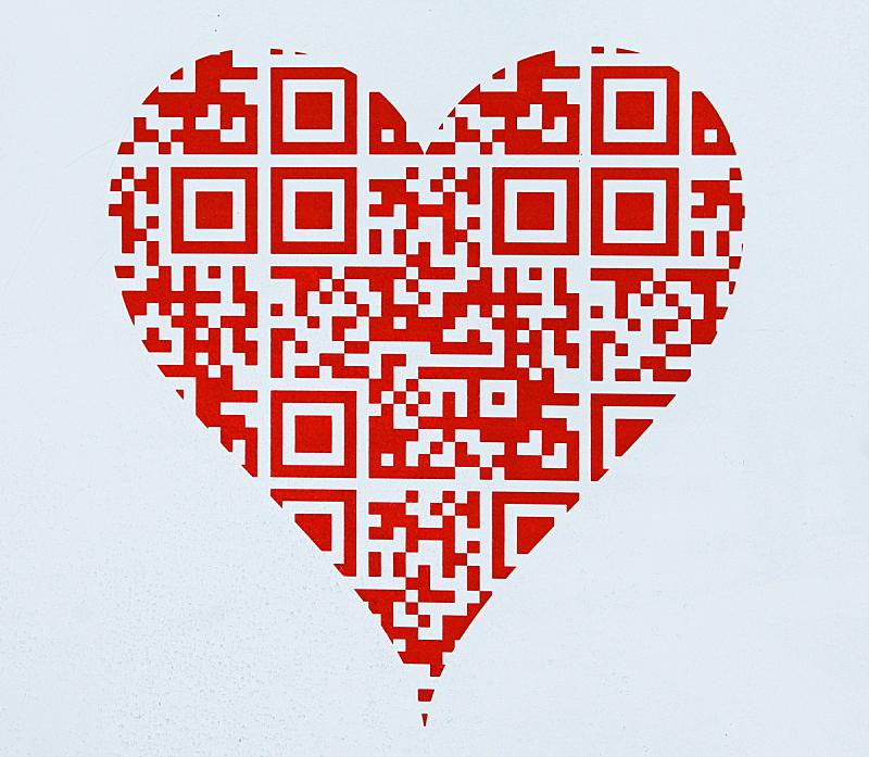 心型,数字化显示,可爱的,计算机,一个物体,美术工艺,浪漫,技术,色彩鲜艳,2015年