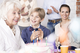生日,家庭,祖母,羊毛帽,水平画幅,派对帽,父母,套装,男性,波兰
