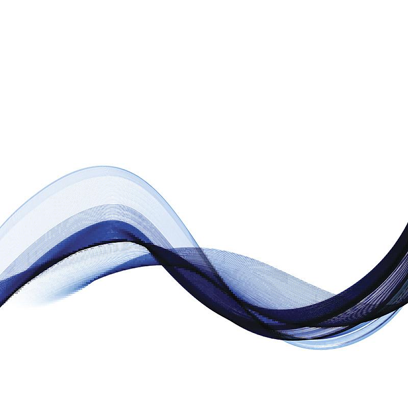 矢量,蓝色,抽象,波浪,背景,花体,自然神力,烟熏食品,水生植物