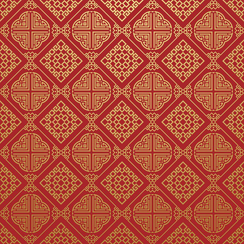 四方连续纹样,亚洲,高雅,纹理,式样,中国,日本,纺织品,2015年,美