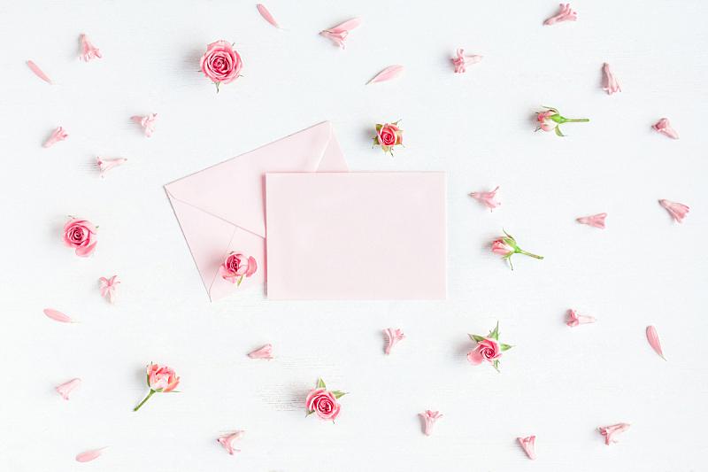 粉色,空白的,白色背景,纸,贺卡,留白,艺术家,古典式,夏天,模板