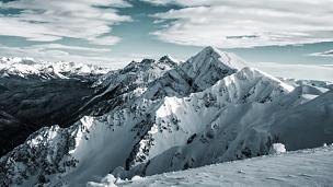 山,地形,冬天,在上面,瑞士,瑞士阿尔卑斯山,山顶,全景,滑雪坡,雪
