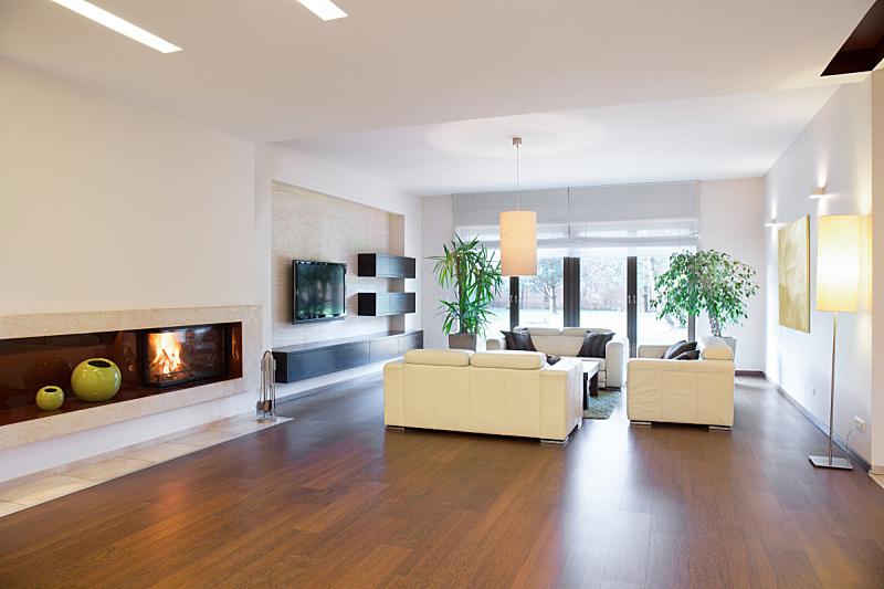 宽的,舒服,起居室,水平画幅,别墅,奶油,灯,家具,居住区,现代