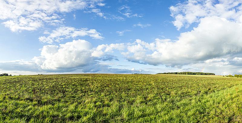 地形,明亮,田地,云,自然,天空,水平画幅,无人,全景,户外