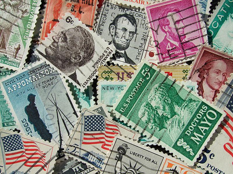 橡皮章,美国,水平画幅,无人,航空邮件,过去,信函,彩色图片,邮件