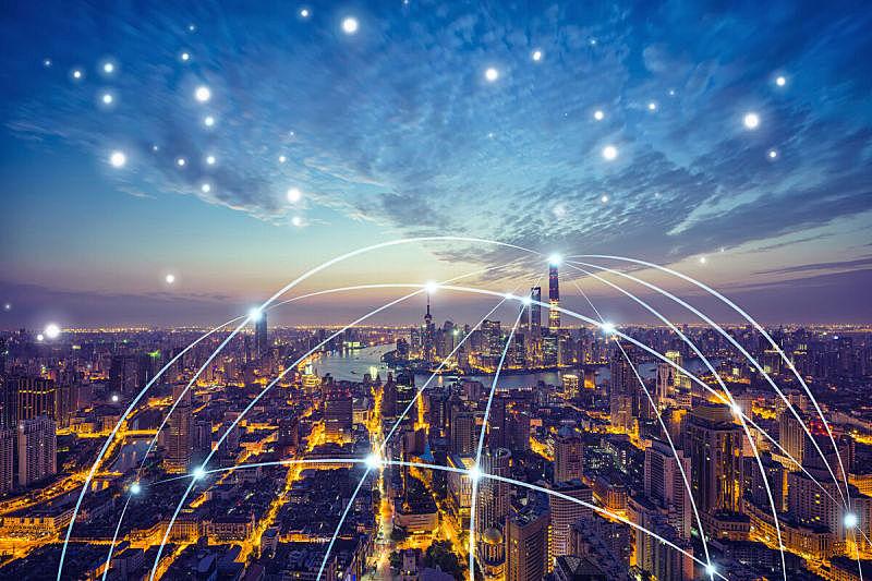 上海,计算机网络,城市,技术,著名景点,全球通讯,大数据,旅游目的地,都市风景,办公楼外观