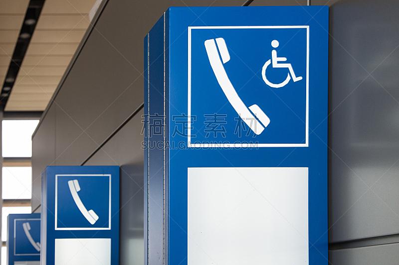 电话机,标志,水平画幅,墙,蓝色,符号,人,箭头符号,付费电话,方向