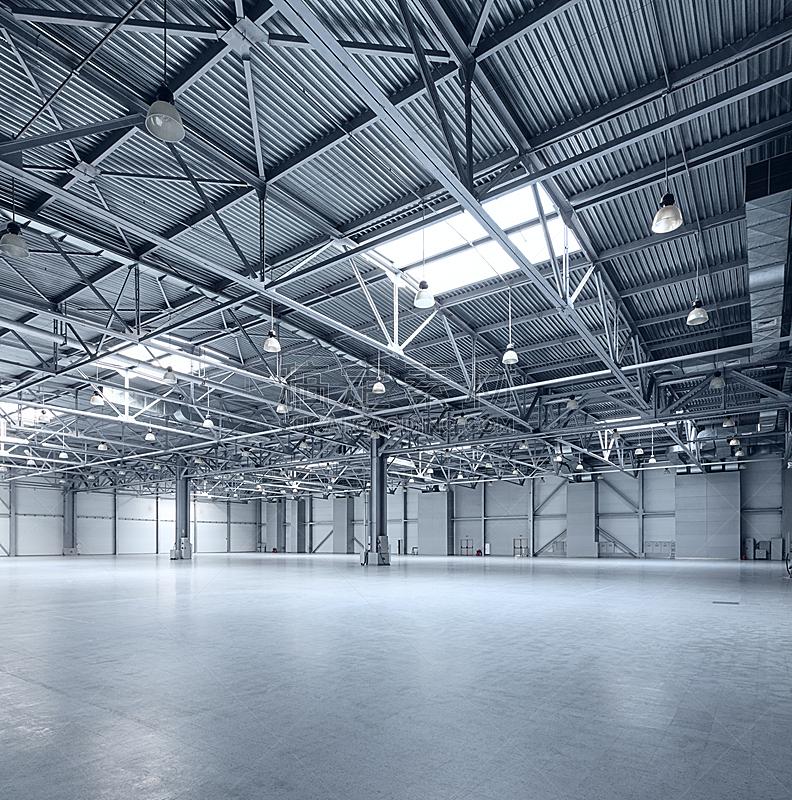 现代,仓库,空的,垂直画幅,新的,天花板,商店,灯,金属,想法
