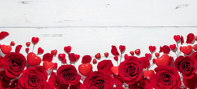 情人节,玫瑰,背景,水平画幅,形状,无人,符号,特写,花束,白色