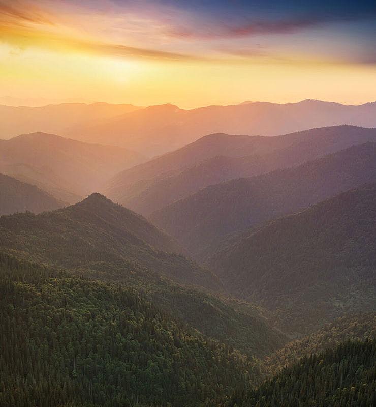 山,地形,垂直画幅,天空,美,无人,早晨,夏天,户外,云景