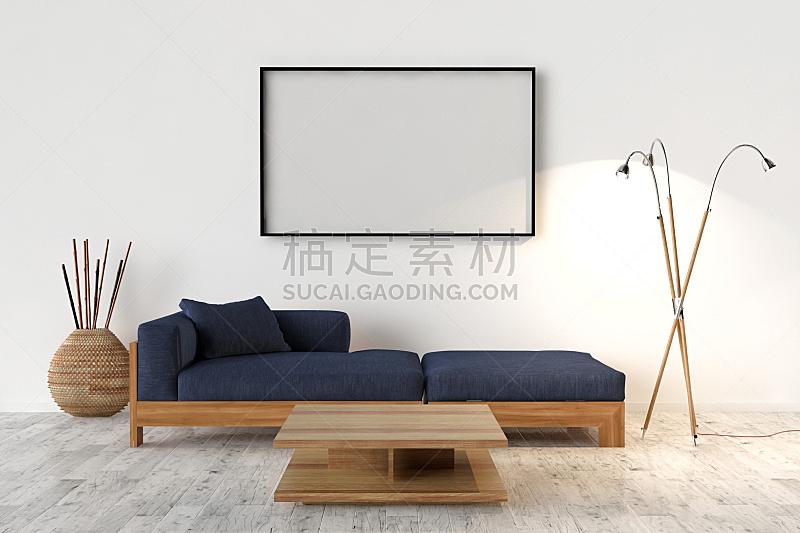 相框,空白的,艺术,无人,留白,人造的,新的,水平画幅,墙,绘画插图