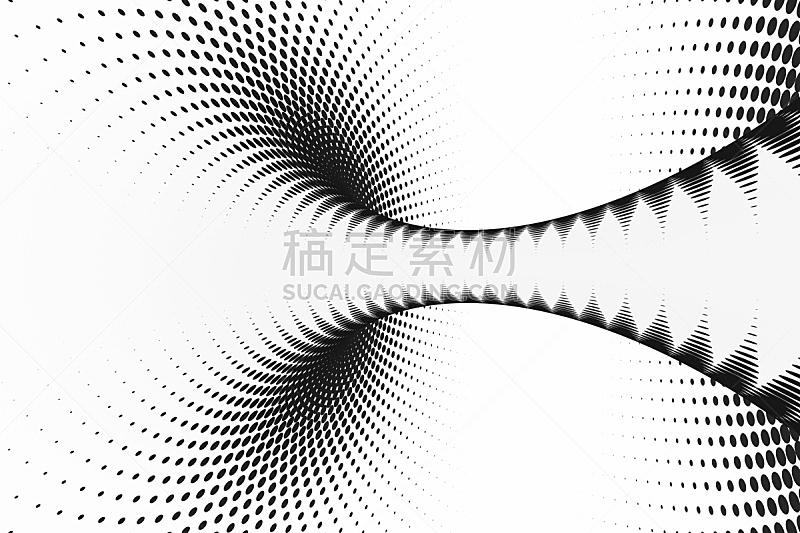 错觉,抽象,螺线,隧道,斑点,背景聚焦,三维图形,条纹,黑白图片,点染