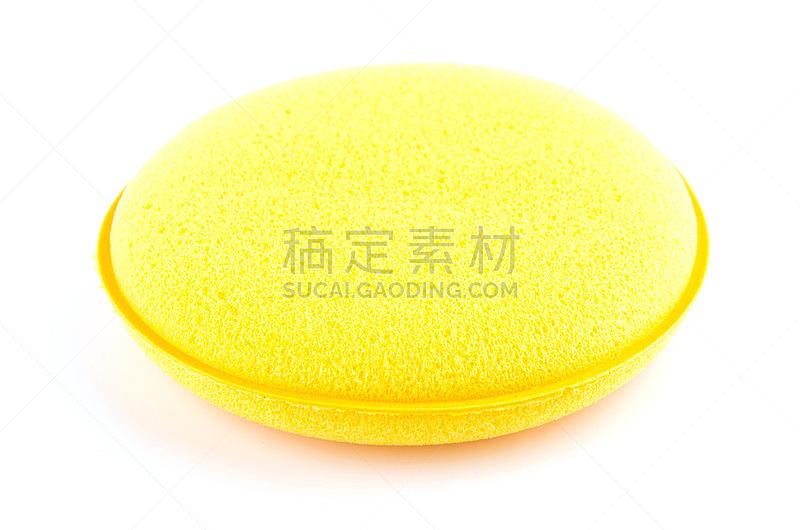 黄色,分离着色,海绵,白色背景,水平画幅,无人,有机食品,湿,干的,特写