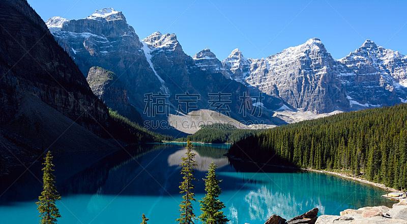 班夫国家公园,阿尔伯塔省,梦莲湖,加拿大,冰碛,自然,水,班夫,国家公园,水平画幅