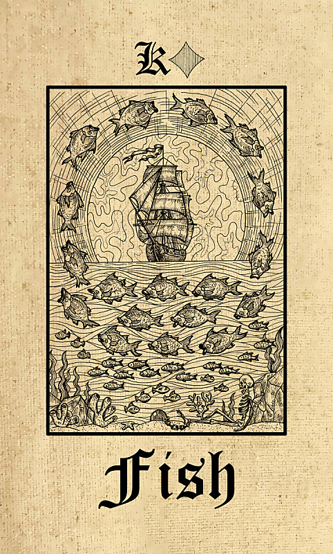 秘密,哥特式风格,鱼类,预言家,塔罗牌,甲板,船,纸牌,巫毒教