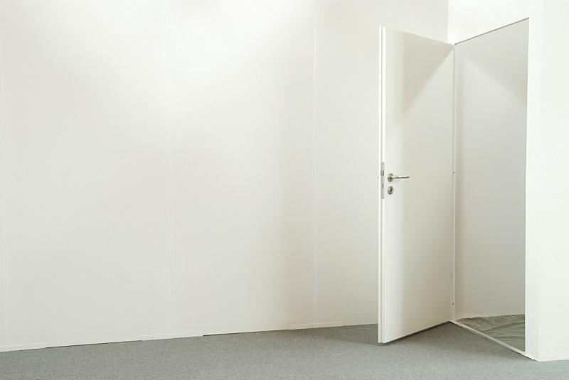 办公室,住宅内部,门,开着的,留白,水平画幅,墙,无人,地毯,明亮