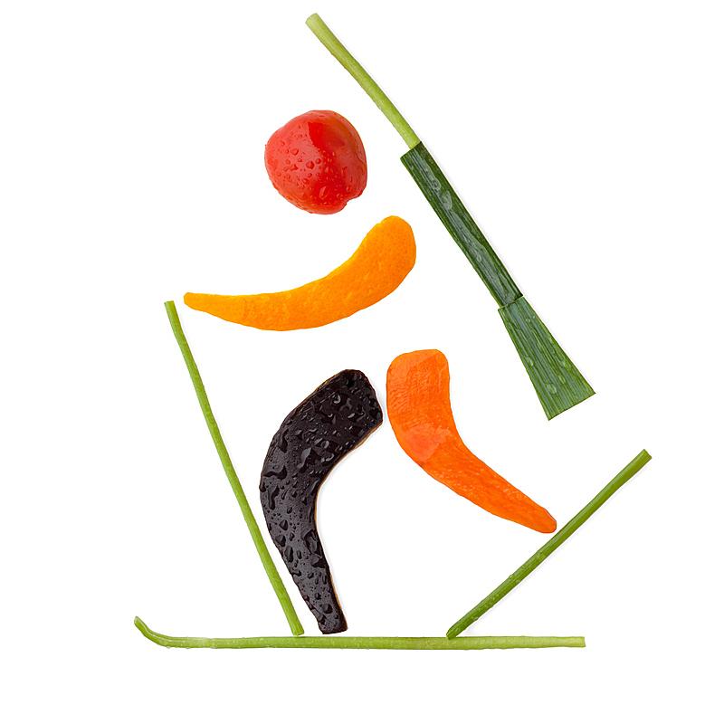 大腿前部,形状,短跑,奥运,维生素,户外,营养品,运动,冬天