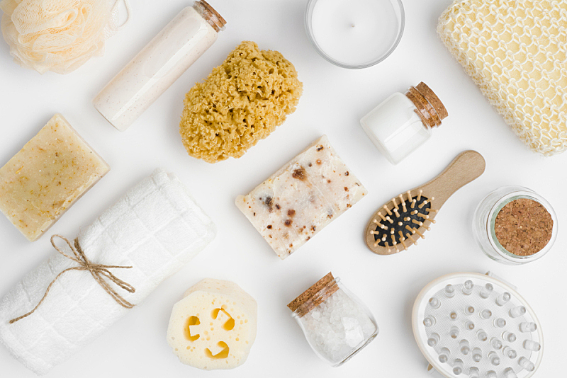spa美容,商品,美,白色背景,多样,分离着色,浴室,发胶,化妆用品,润肤露