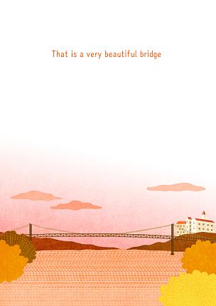 风景插画,自然,草丛,季节,秋天,风景,植物,河流,背景,树
