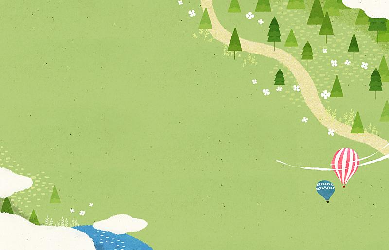 春天,背景,水彩画,插图画法,草原,绘画插图,自然,季节,水彩画颜料,风景