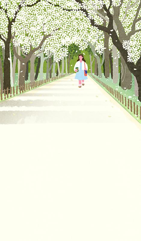 春天,人,背景,清单,风景,自然,季节,生活方式,树