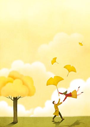 童话故事,背景,秋天,创造力,自然,人,季节,幻想,性格,想象