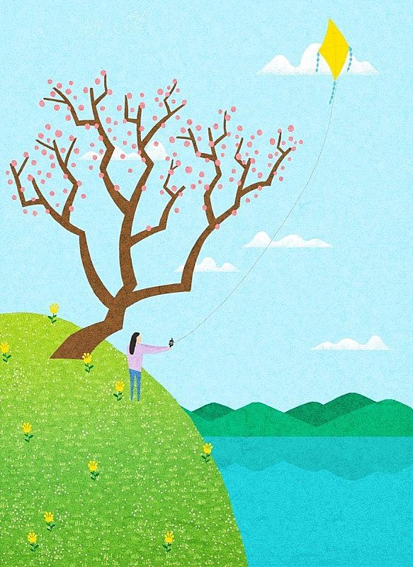 自然,背景,春天,平原,状态,化妆舞会服,丘陵地带,概念,草坪,树