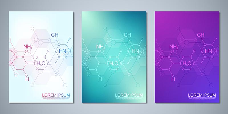 技术,模板,化学,分子结构,背景,小册子,科学,公式,抽象,覆盖