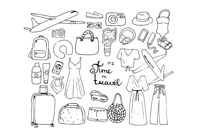 衣服,巨大的,问号,城市生活,旅途,裤子,鞋子,复古风格,现代,女人