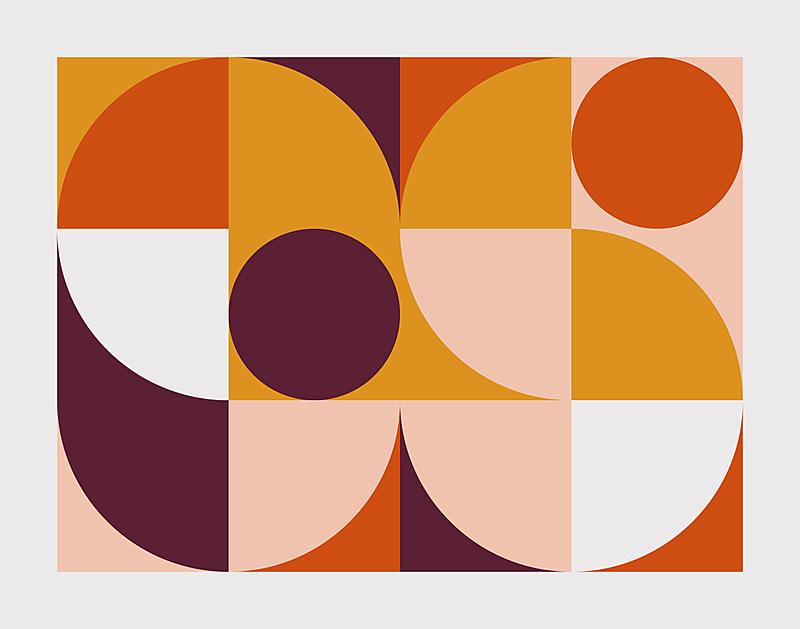 矢量,式样,抽象,世纪,中间,华丽的,几何形状,纺织品,复古风格,现代