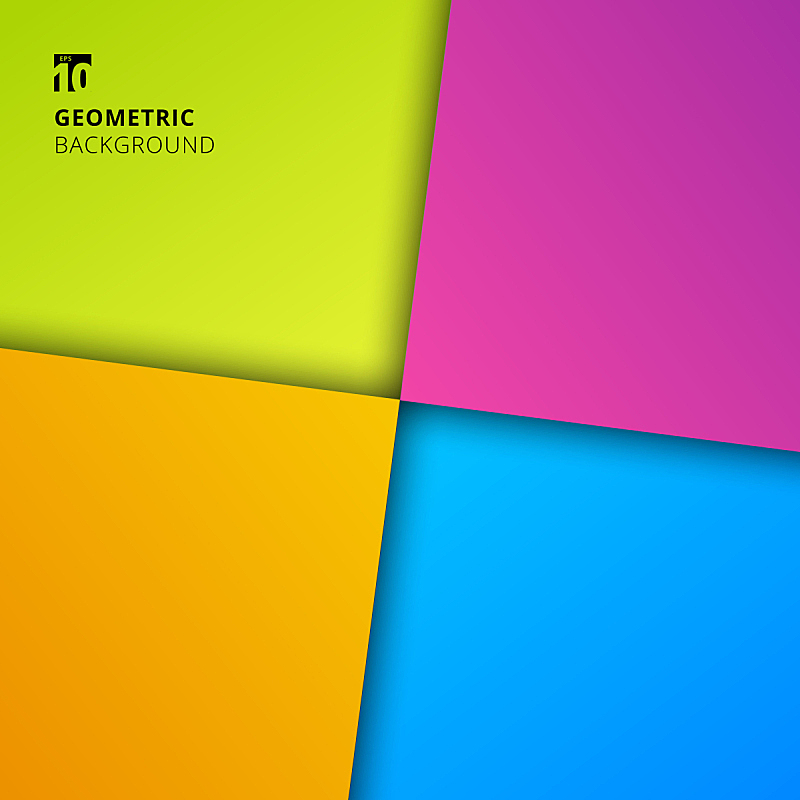 几何形状,色彩鲜艳,阴影,背景,时尚,极简构图,正方形,抽象,商务,边框
