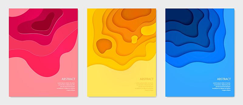抽象,时尚,垂直画幅,多色的,布置