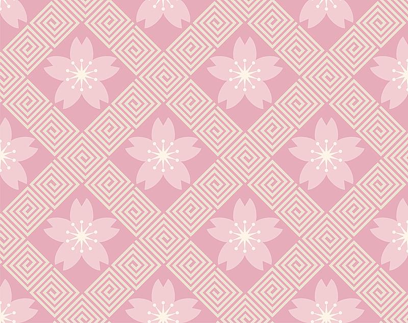 传统,几何形状,背景,日本,矢量,式样,樱之花,和服,纺织品,复古风格